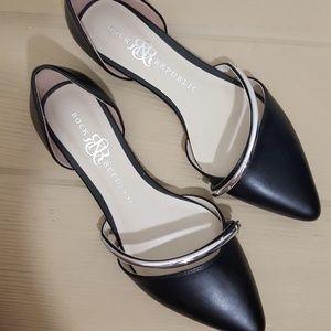 Rock & Republic Women's Black Flat Shoes